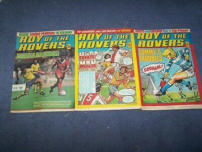 3 Roy of the Rovers Comics  5/1, 12/1, 19/1/1980
