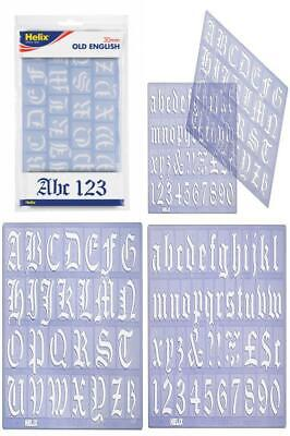 Helix 30mm 3cm Old English Letter Stencil Set