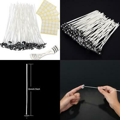 Candle Making Kit 100 Pieces Prewaxed Wicks with 1 Piece Stainless Wick...
