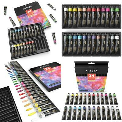ARTEZA Gouache Premium Artist Paints Set, 24 Colours, (12 ml / 0.74 US fl...