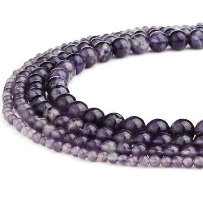 RUBYCA Wholesale Natural Amethyst Gemstone Round Loose Beads for DIY Jewelry...