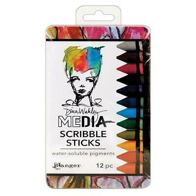 Ranger Dina Wakley Media Scribble Sticks 2, Synthetic Material,...