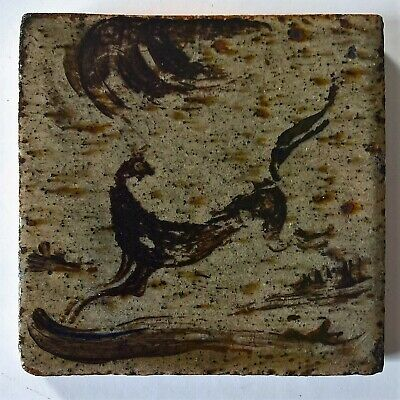 Bernard Leach - St. Ives Pottery Decorated Tile