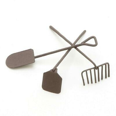 Darice Timeless Miniatures-Painted Metal Garden Tools