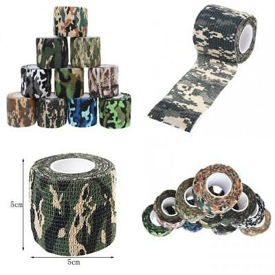 10 Rolls Camouflage Tapes, Sicai Self-adhesive Non-woven Outdoor 10 Styles
