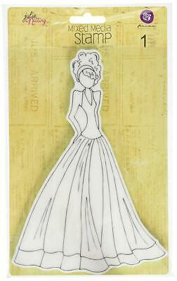 Prima Marketing Julie Nutting Mixed Media Cling Rubber Stamps-Lorrena 5.5...