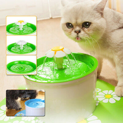 1.6L Automatic Pet Drinking Fountain Flower Water Fountain Cat Drinking Bowl