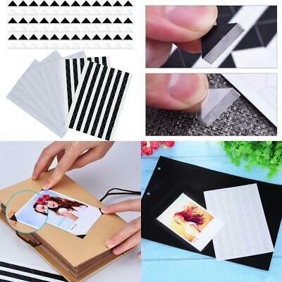 510 Pieces Photo Corners Self Adhesive (Black and Clear)
