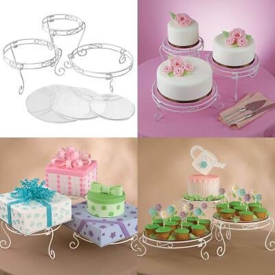 Wilton White Scrolled Cake and Dessert Stand Set, Wedding Display