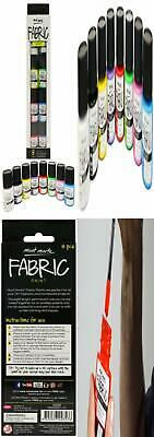 Fabric Paint Set Professional Quality 8 Colours x 20ml – Water Resistant...
