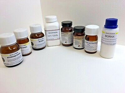 Various film developing chemicals