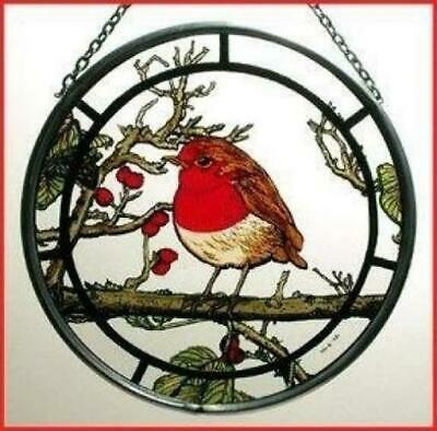 Decorative Hand Painted Stained Glass Window Sun Catcher/Roundel in a Fat...