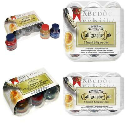 Winsor & Newton Calligraphy Ink - Set of 6 Assorted