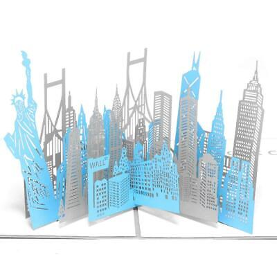 Paper Spiritz New York Card, 3D Pop up Birthday Greeting Cards, Christmas...