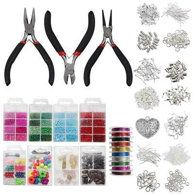 Jewellery making kit - Silver Plated Repair Starter with 3 Tool Pliers Set,...