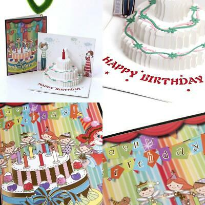 Paper Spiritz 3D Pop up Birthday Cake Card, Anniversary Card all Occasion,...