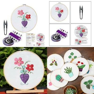 Embroidery Starter Kit with Pattern-Full Set of Handmade Cross Stitch Kits...