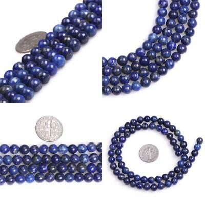 SHGbeads Natural Round 6MM Blue Lapis Lazuli Stone Gemstone Loose Beads for...