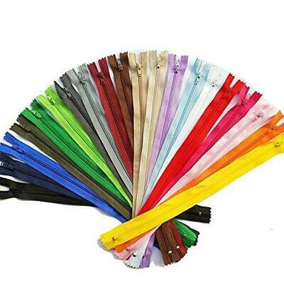 Chenkou Craft Upick Color 20pcs Nylon Coil Zippers Tailer Sewing 12inch Mix20