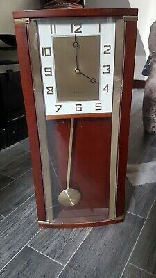 old wodden frame clock all working GOOD CONDITION