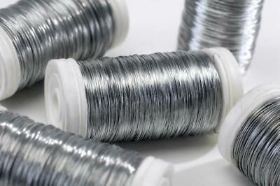Thin Silver Reel Wire 30 Gauge for Floristry & Flower Arranging