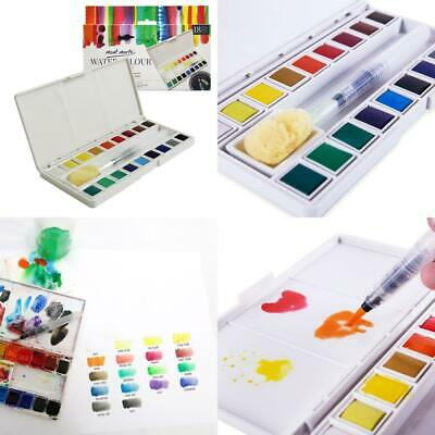 MONT MARTE Watercolour Half Pan Paint Set - 18 Brilliant Colours - Includes...