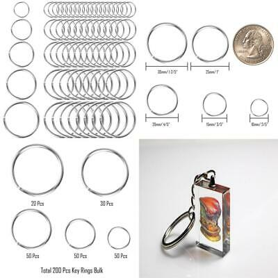 Selizo 200Pcs Split Key Rings Bulk for Keychain and Crafts (5 size)