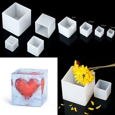 4 Pieces Square Resin Mold Cube Silicone Molds Casting for DIY Craft Making,...
