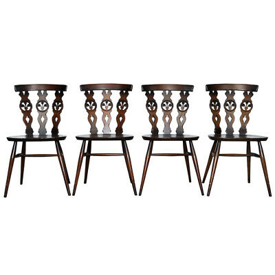 Ercol Old Colonial Windsor Dining Chair Model 375, Set of 4. 1950/60s