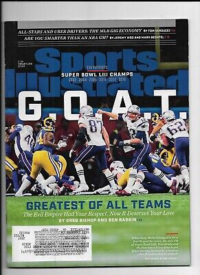 New England Patriots~ Super Bowl Champs ~February 11 2019 Sports Illustrated