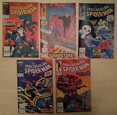 Marvel Comics: The Spectacular Spiderman x5 issues