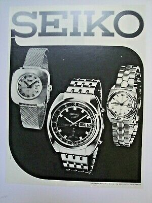 Pubblicità, advertising originale, Seiko, 1970 or-245
