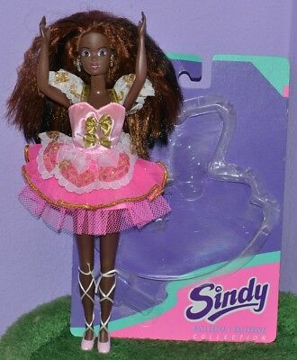Hasbro Aa African Sindy Doll Pedigree Pink Ballerina Outfit Black Hair Earrings