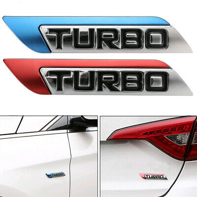 1PC 3D Metal Turbo Logo Car Body Fender Emblem Badge Decal Sticker Car Accessory