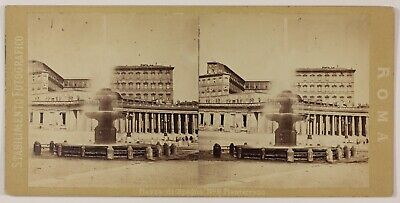 Stabilimento Fotografico Rome Place Saint-Pierre Italie Photo Stereo Vintage