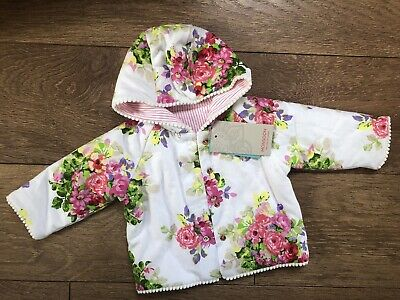 New Monsoon Baby Girls Reversible Floral Jacket Coat 0-3 Months