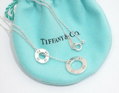 Tiffany & Co. Sterling Silver Atlas Circle Lariat Pendant Necklace