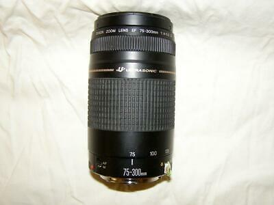 Canon Auto Focus Zoom Lens EF 75-300mm Ultrasonic II 58mm 1:4-5.6 Preowned Clean