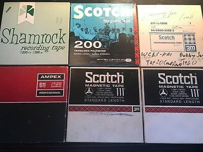 New York Radio Airchecks 6 Reel to Reel Tapes WCBS-FM 1950s  1960s Countdowns