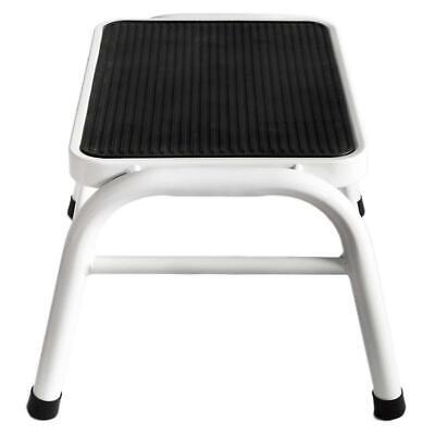 Home Discount® One Step Stool Metal Anti Slip Rubber Mat In White, Bathroom...