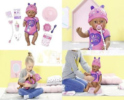 Baby Born 824382 Soft Touch-Girl with Brown Eyes Interactive Function Doll