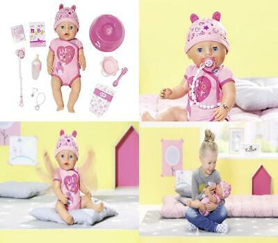 Baby Born 824368 Soft Touch-Girl with Blue Eyes Interactive Function Doll,...
