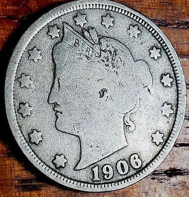 1906 Liberty V Nickel 5 Cent U.s. Coin