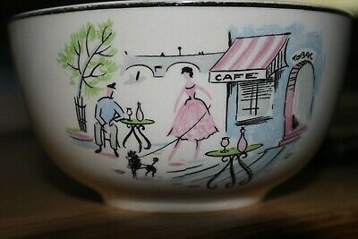 "Alfred Meakin - Down by the Seine - 4.75"" Sugar/Slop Bowl"