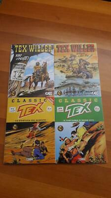 4 Tex Willer - Tex Classic Vari - Misti - Lotto - Blocco