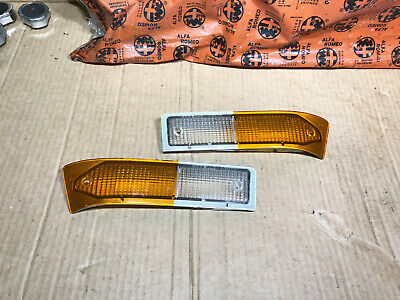 Alfetta GTV 1st Series Pair Of Carello Front Indicator Lenses, New Old Stock
