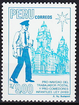 Peru Christmas Social Works Postal Workers & Children's Canteens 1988 MNH-1 Euro