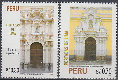 Peru Building Fronts of Lima 1995 MNH-2,80 Euro
