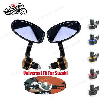 Universal Motorcycle Part Rearview 22MM Handlebar Bar End Side Mirror For Suzuki
