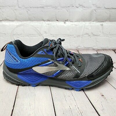 Brooks Cascadia 12 Men s Trail Running Shoe Size 11.5 45.5 EUR BLUE GREY 8ed1edff616